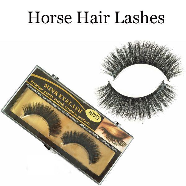 1Pair Sexy Fashion Charming Stylish 3D horse False Eyelashes Long Cross Beauty Eye Lashes Extension Cosmetic Makeup Tools