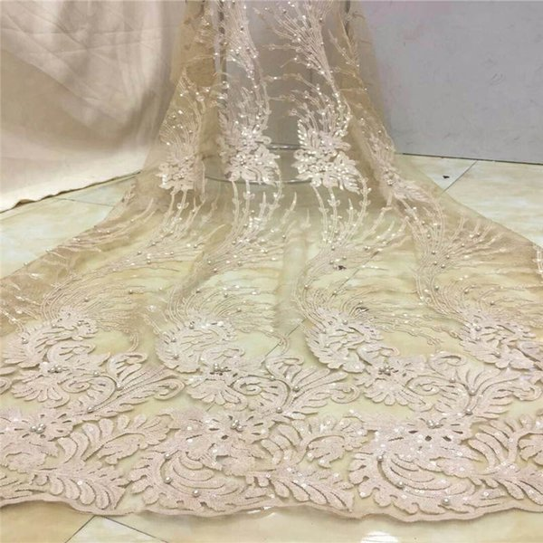 2018 Latest African French Lace Fabric High Quality African Tulle Lace Fabric For Wedding Guipure Lace Chemical