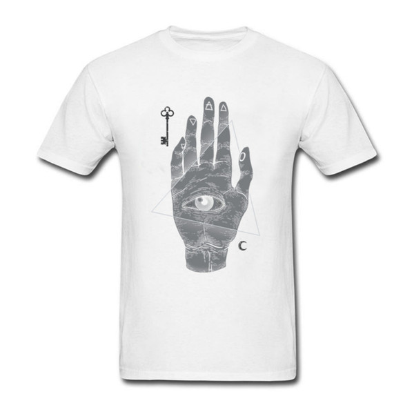 1ee6be029 Witch Hand All Seeing Eye illuminati Cool Design men t shirt 2017 Summer  Anime T-