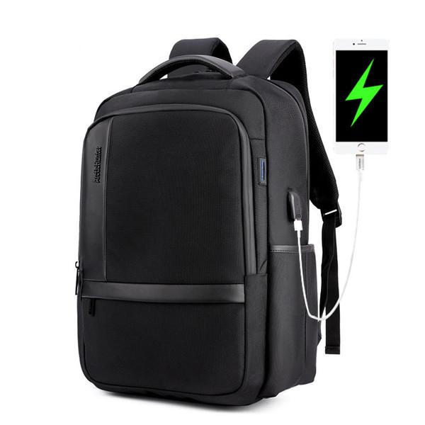 Casual antichoc USB charge hommes sac d'ordinateur anti-sac à dos Oxford sac à dos étanche pour ordinateur portable cartable grande capacité