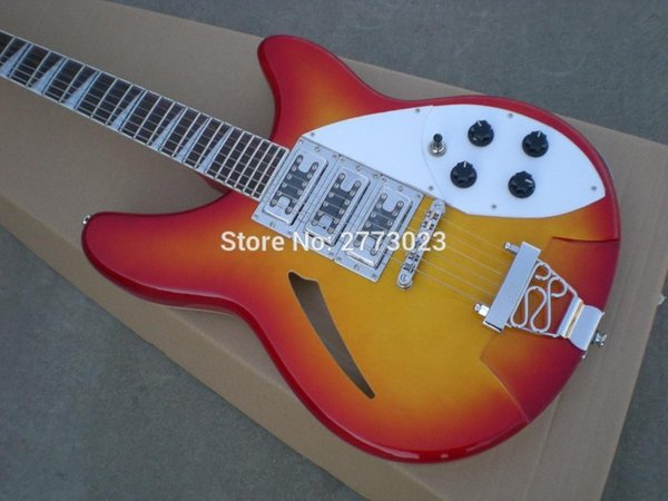 Top quality Rick model Ricken 6 strings Electric guitar in Metallic Red color, All Color are available -Wholesale