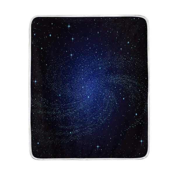 Fantastic Universe Galaxy Blanket Soft Warm Cozy Bed Couch Lightweight Polyester Microfiber Blanket Throw