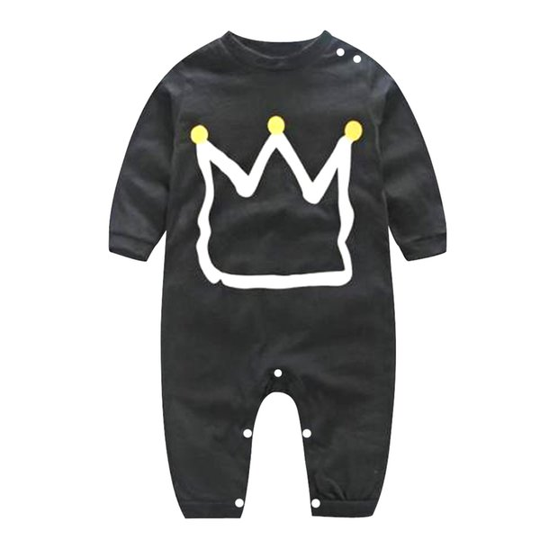 Baby Boy Clothes Infant Romper Black Romper Toddler Long Sleeve Kids Clothes Jumpsuit Pajamas Kids Spring Clothing 70-100