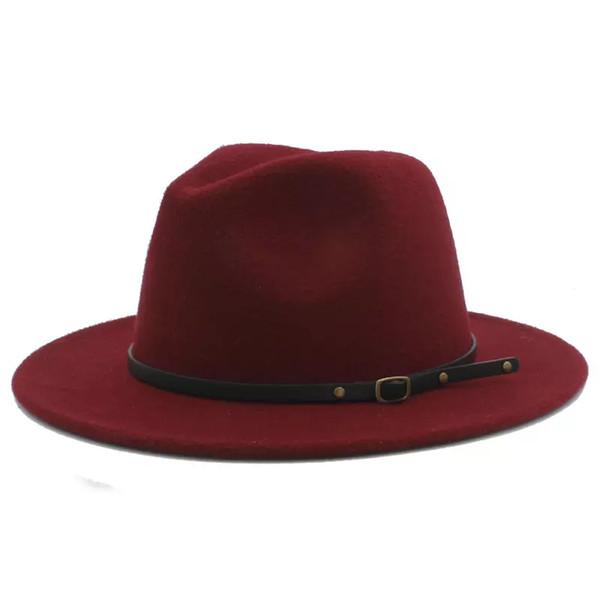 100% Laine Femmes Outback Feutre Gangster Trilby Fedora Chapeau Avec Bord Large Jazz Parrain Cap Szie 56-58CM X18