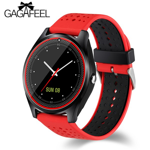Gagafeel V9 Smart Watch with Camera Bluetooth Smartwatch SIM Card Wristwatch for Android Phone Wearable Devices pk dz09 A1 gt08
