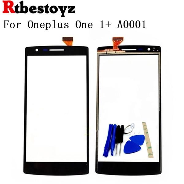 RTBESTOYZ Touch Screen Digitador Sensor de Lente De Vidro peças de Reposição Para Oneplus One 1 + A0001 painel de toque do telefone móvel + ferramentas