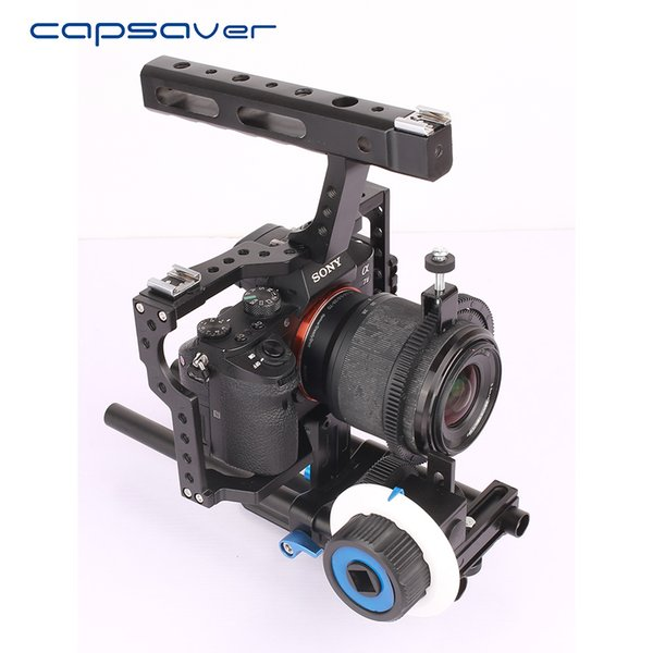 wholesale 15mm Rod Rig Video DSLR Camera Cage Stabilizer Handle Grip Follow Focus for Sony A7SII A7R A7S A7 A7RII Panasonic GH4