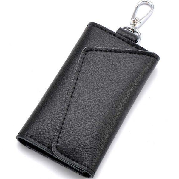 2c238eef18 Unisex Cow Leather Business Card Holder Organizer Housekeeper Keychain  Wallet Portable Men Women Car Keys Bag Case Cover Branded Wallet For Men  Long ...