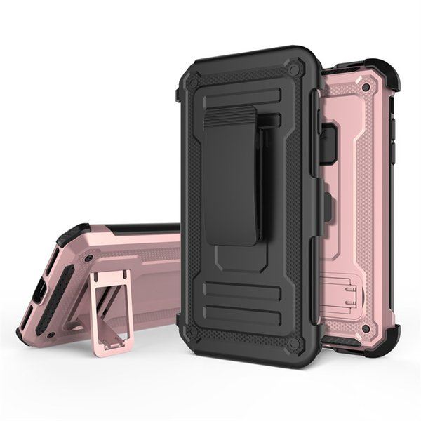 For iPhone Xs Max Xr 8 Galaxy S9 Cellphone Heavy Duty Case with Belt Clip Protective Cover for iPhone X 8