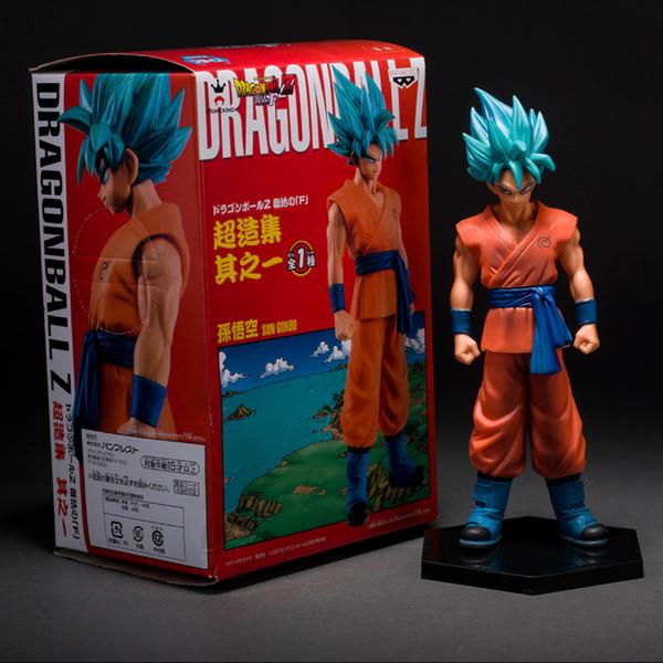 Dragon Ball Z Auferstehung F Super Saiyajin SS Blaues Haar Sun Wukong Puppe Hand Modell Produkt Höhe 17cm