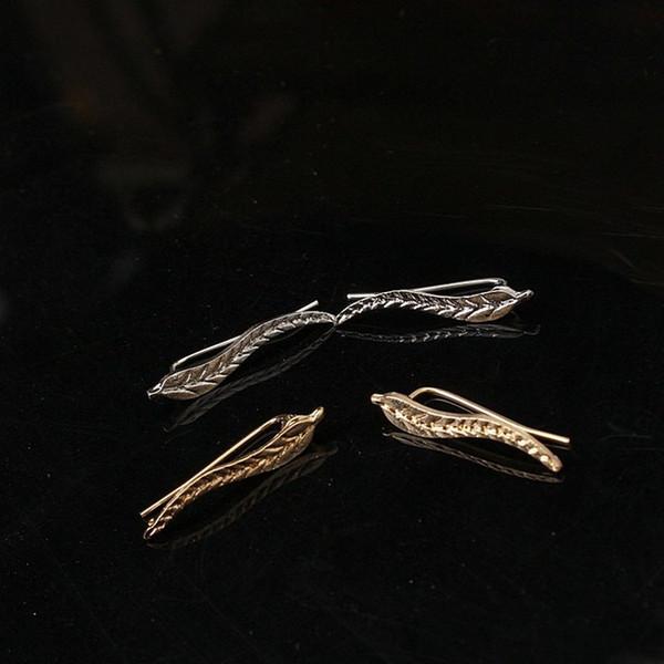 New Fashion Ear Sweep Wrap argento oro orecchio scalatore clip polsini foglie orecchini gioielli per le donne clip orecchino 1 paio