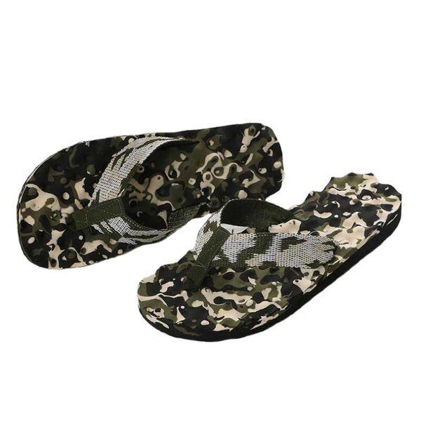 Unisex Flip Flops Slipper Men Slippers Summer Camouflage Sole Flat Heel Sandals Women Home Shoes #33