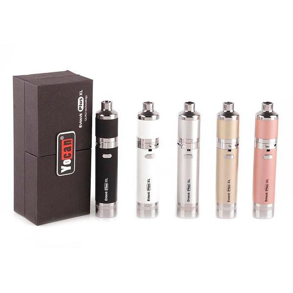 Top Quality Yocan Evolve Plus XL Starter Kits Wax Vaporizer 1400mAh Battery Dab Pen With Silicon Jar Quad Quartz Rod Coil DHL Free Ship