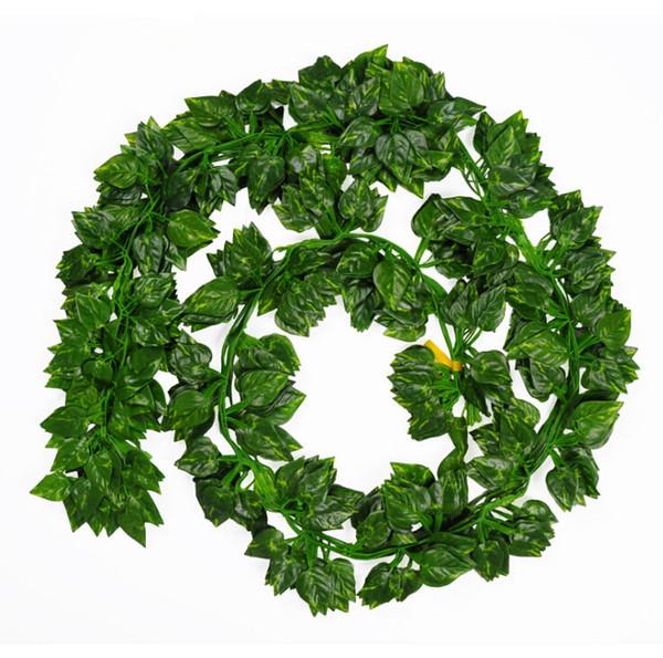 Simulation grüne Blätter gefälschte Rebe lebensechte immergrüne Cane künstliche Blume Ivy Leaf Hochzeit Home Decor Mode Wandbehang