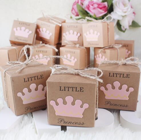 Kraft Paper Gift Box Candy Boxes Baby Shower Decorations Wedding Favors And Gifts Box For Guests 2 2 2inch Party Supplie Personalized Gifts