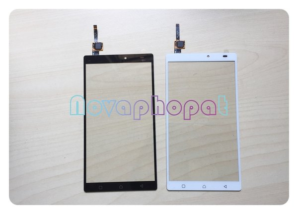 Novaphopat Black/White touchscreen For Lenovo Vibe K4 Note A7010 Touch Screen Digitizer Front Glass Panel Replacement +tracking