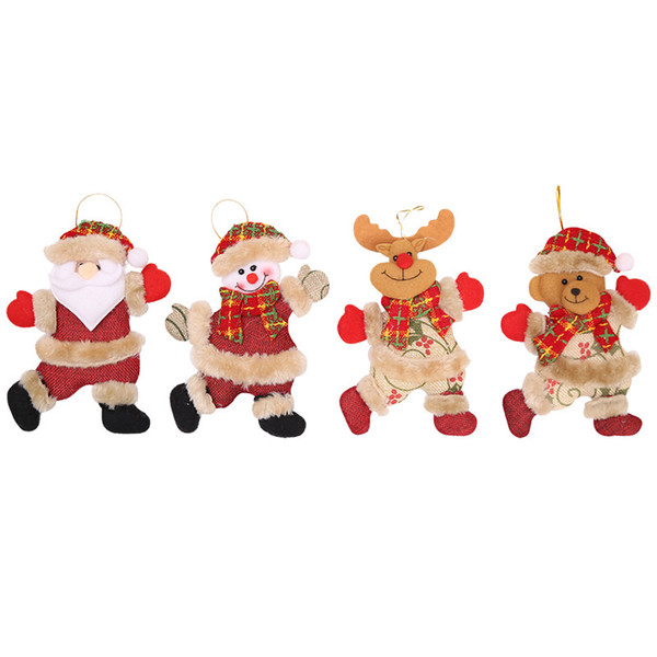 New Christmas Tree Accessories Christmas Little Doll Hotel Home Accessories Dancing Cloth Even Small Hanging Gifts Wholesale