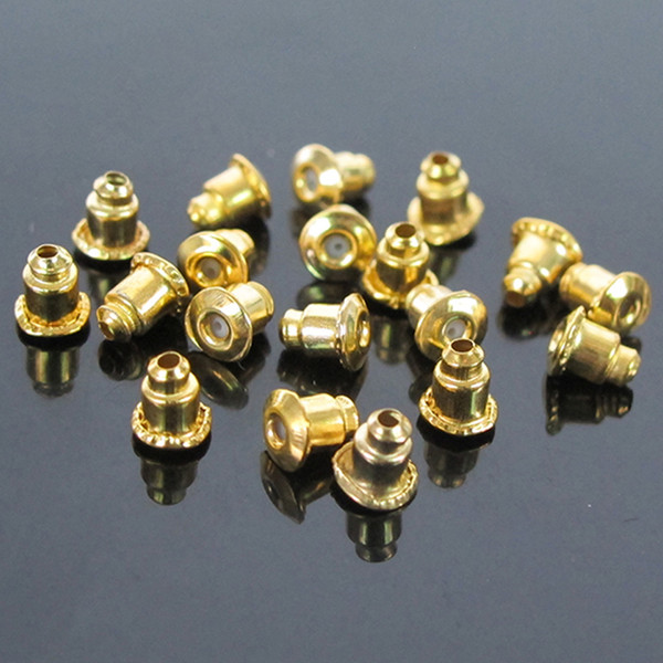 best selling 1000pcs lot Gold Silver Plated Earring Backs Bullet Stoppers Earnuts Ear Plugs Alloy Findings Jewelry Accessories 2 Colors Wholesale Price