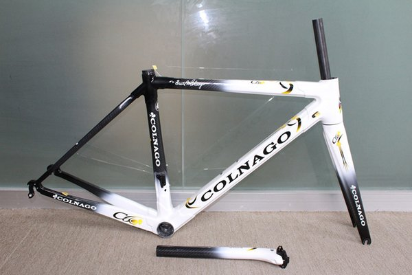 Hot sale ! White black Colnago C60 frame carbon frameset road bike Frame carbon bicycle Frame+ Seatpost+ Fork+ Clamp+ Headset+bb386 adapter