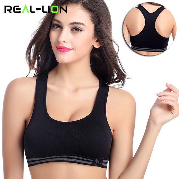 RealLion Frauen Weste Sport Bra Tops Laufen Bodybuilding Leibchen Weiblich Schlaf Unterwäsche Gym Kleidung Einteilige Yoga Tragen Elastisch