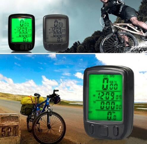 563A Bicycle Computer Waterproof Cycling Odometer Speedometer With LCD Display Bike Bicycle Computers Odometer Speedometer KKA4316