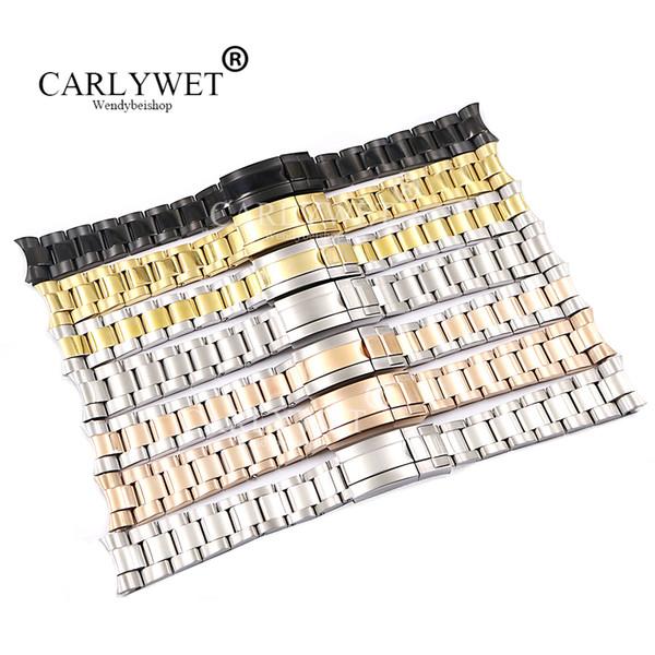 CARLYWET 20 21mm oro argento all'ingrosso oro rosa nero 316l cinturino in acciaio inossidabile solido cinturino cinturino bracciali per