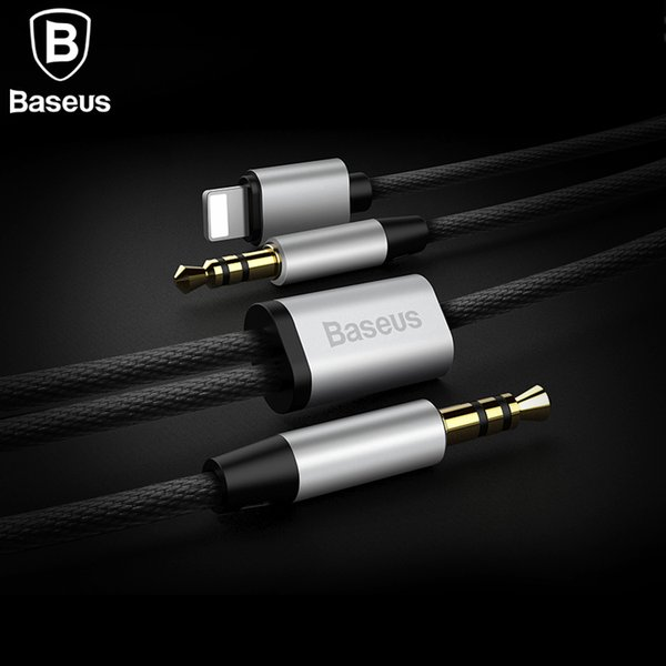 Baseus 2IN1 Audio Cable For iPhone Jack to 2Aux Jack Cable Adapter For iPhone 8pin to 3.5mm Jack Speaker Headphone Car Aux Cable