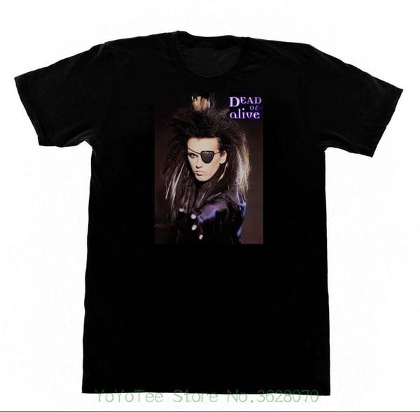 Yeni 2018 Baskı Harfleri Erkekler T-shirt Ölü Veya Alive Band Tops Tshirt Pete Burns 213 T-shirt 80 s Pop Trans Lgbt