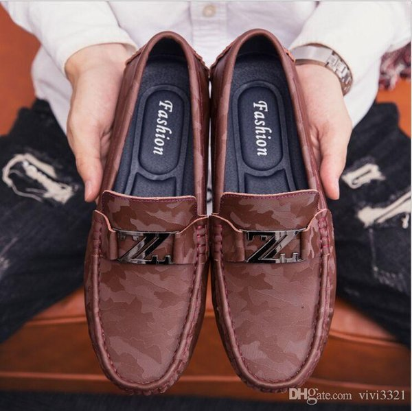 Chaussures en cuir pour homme, croco gaufré, Chaussures de loisirs en lettre Z, chaussures de conduite italiennes en cuir de vache