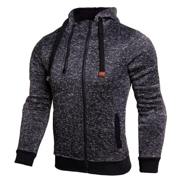 All'ingrosso-Inverno nuovo caldo giacca da corsa Felpe sportive uomo Fitness allenamento Sportwear doppia cerniera traspirante antivento con cappuccio outwear