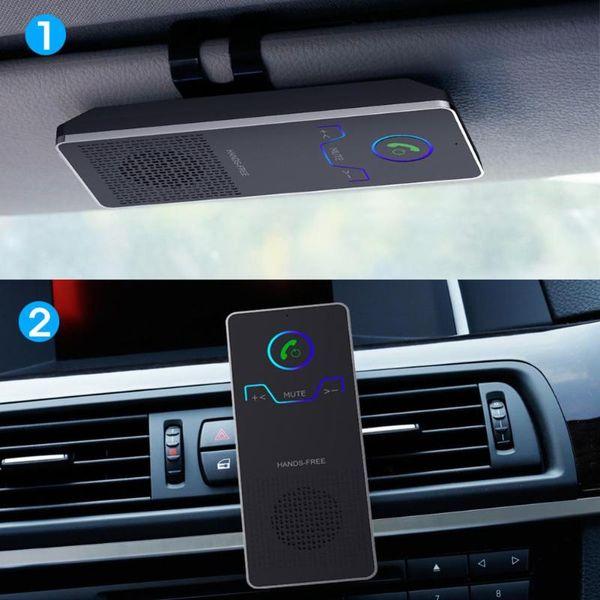 VODOOL Car Bluetooth Kit Sun Visor Mobile Phone Wireless Handsfree Speaker Car Audio MP3 Music Player Voice Broadcast