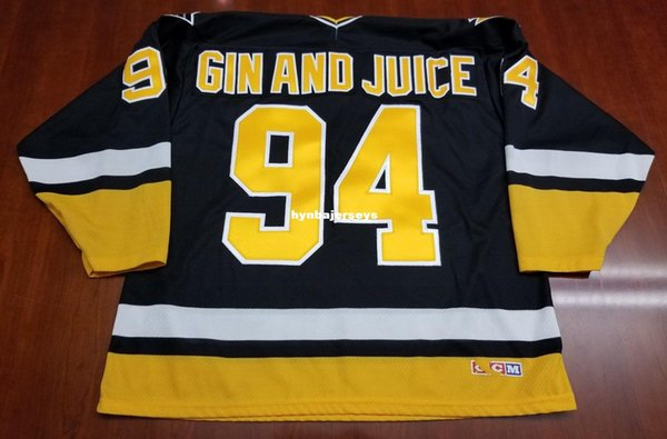 timeless design c9b00 104a0 2019 Custom Gin And Juice Pittsburgh Penguins Vintage CCM Cheap Hockey  Jersey Black Mens Retro Jerseys From Hynbajerseys, $26.25 | DHgate.Com