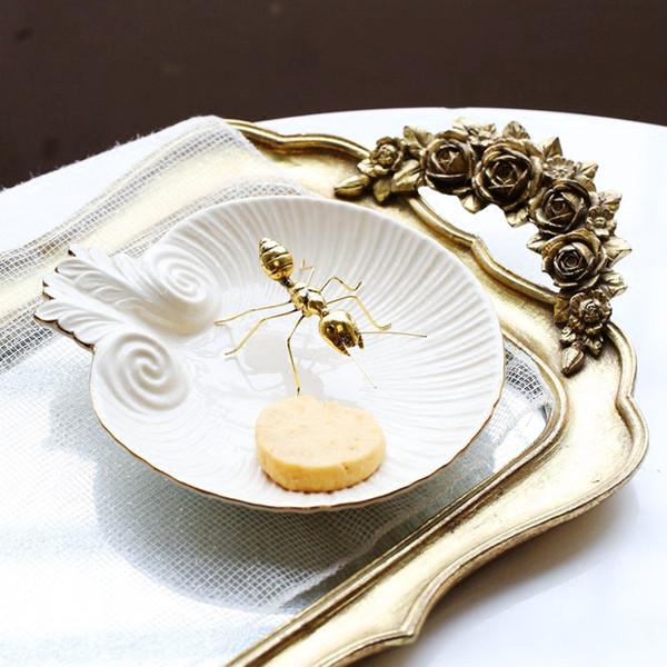Animali fatti a mano vintage rame ornamenti d'oro formica Super carino per casa ufficio Art Craft regali in miniatura fata giardino decorazione della casa