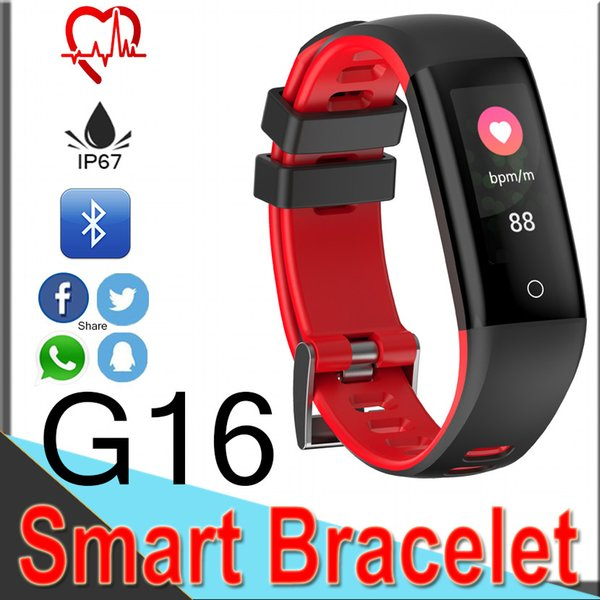 G16 Deporte Reloj Inteligente Inteligente Pulsera Impermeable de Presión Arterial Monitor de Ritmo Cardíaco Podómetro Paso Calibrador Pulsera Inteligente forIOS Android XCG16