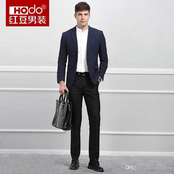 Compre Hodo Brand Trajes Para Hombre Primavera Nuevo Negocio Casual ...