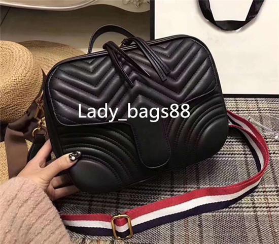 2018 Hot Designer Classic Luxury women HandBags Marmont designer handbags Italian Sylvie crossbody bag leather love heart messenger bag 27cm