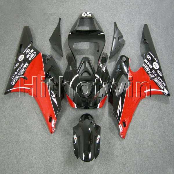 23colors+8Gifts red black Body Kit motorcycle cowl for Yamaha YZFR1 00-01 YZF R1 2000 2001 ABS Plastic Fairing