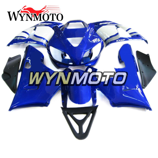 Full Covers For YZF1000 R1 1998-1999 98 99 Injection ABS Plastics Hull Blue White Cowlings Motorbike Hull Yamaha R1 Frames Bodywork Fairings