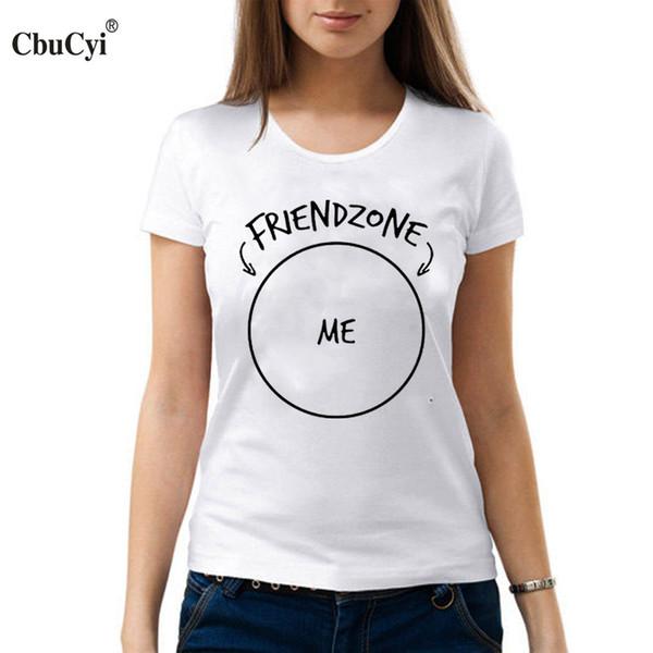 Acheter Femmes Tee Friendzone Me T Shirt Tumblr Harajuku T Shirt Femmes Hipster Tops Punk Rock Hip Hop Tee Shirt Femme Noir Coton Blanc Tshirt De