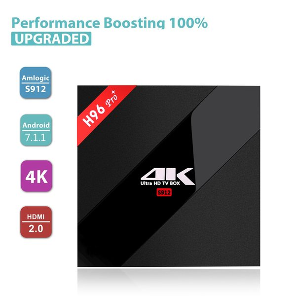 H96 Pro Plus + Android 7.1 TV Box 3G/32G Amlogic S912 Octa Core 64Bit 2.4G/5G Wifi 4K BT4.1 HD Media Player Set Top Box
