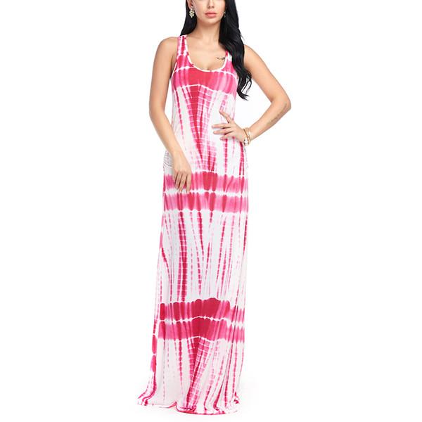 Compre Mujeres Maxi Boho Vestido Verano Playa Casual Suelto Off ...