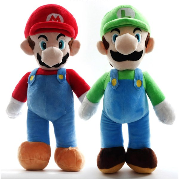 EMS Super Mario Bros Standing Mario Luigi 35CM Plush Doll Stuffed Best Gift Soft Toy