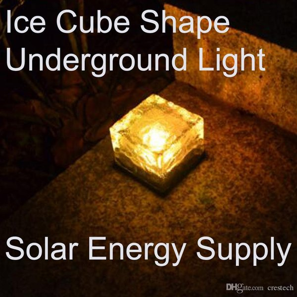 Fashion LED Solar landscape lights Ice cube LED Solar energy underground solar lights underground lamp lighting sensor
