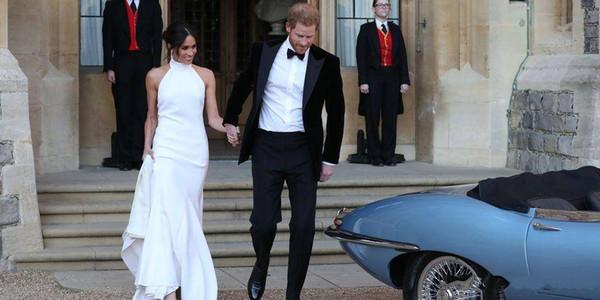 Elegant Simple White 2018 Wedding Dresses Prince Harry Meghan Markle Halter Satin Customized robe de mariée camo plus size wedding dresses