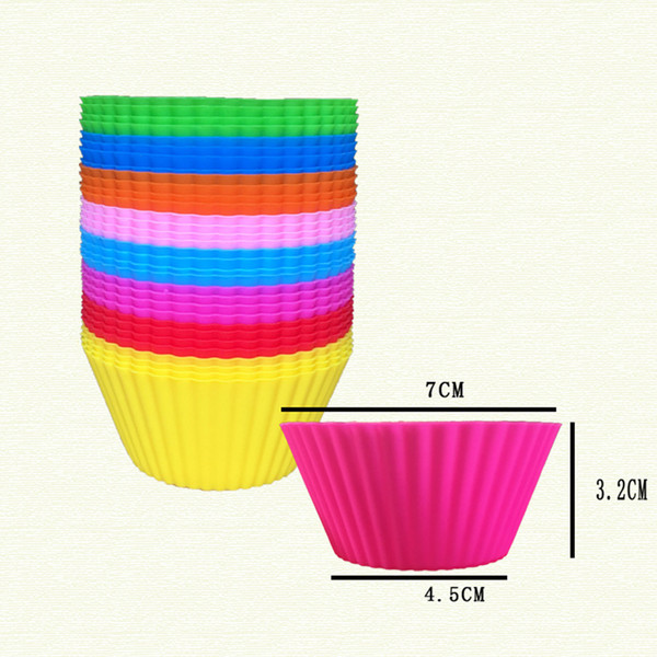 best selling New Colorful Silicone Cake Baking Tools Baking Mold Cupcake and Muffin Cupcake for DIY Baking Dishes Pan Form BH143