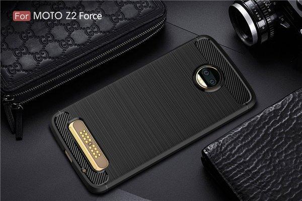 1.5mm Carbon Fiber Brushed Silicone Case Slim Soft Anti-slip For Motorola Moto Z2 Z2 Force Z 2018 Z3 Play Opp Bag