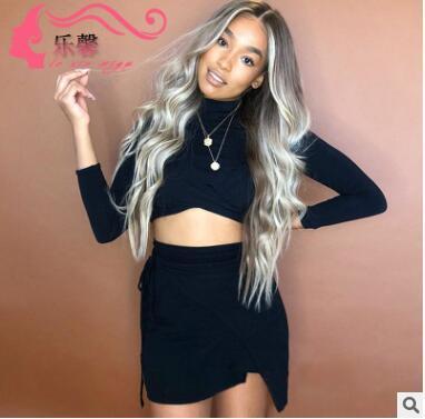 Тенденция нового продукта 2018, европейский и американский парик, женский завивать, длинные волосы завивая, парик и парики установили оптом.