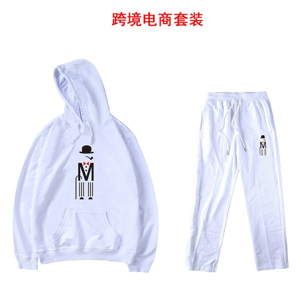 2018 New Pattern Personality Concise Motion Suit Men And Women Joker Autumn Outdoors Leisure Time Even Hat Form A Complete Set Clothes