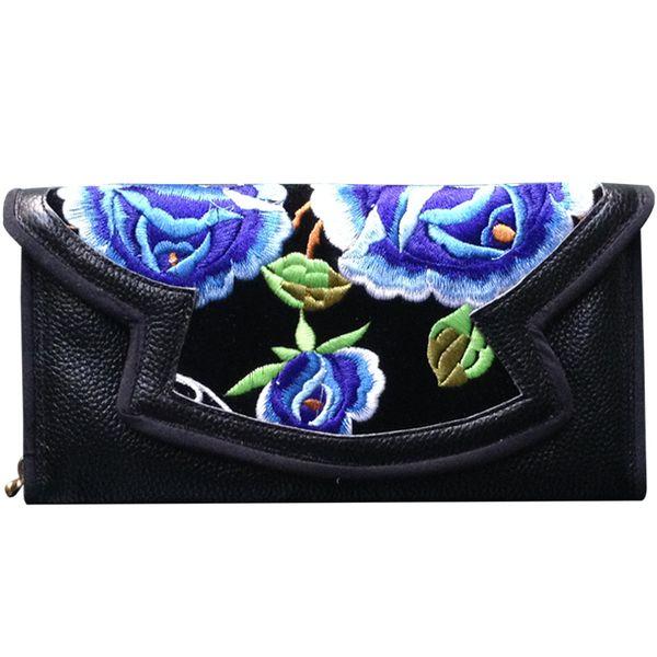 Ladies Organizer Rosen Blumen Damen Geldbörse Portemonnaie Wallet Echt Leder USA