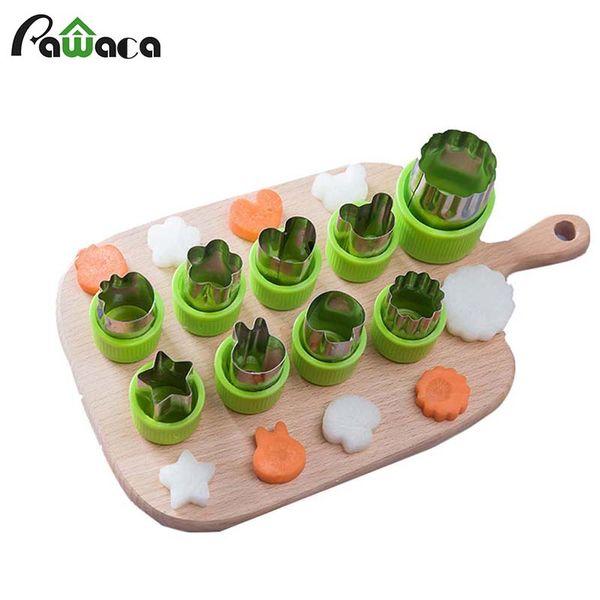 Großhandel 9 teile / satz Edelstahl Cutter Mold Blume Form Reis Gemüse Obst Slicer Küche Zubehör Slicer Schneidwerkzeuge